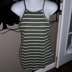 Womens sz S Charlotte Russe olive green top
